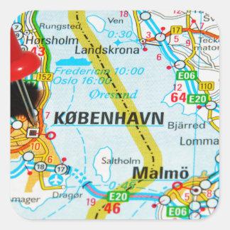 Copenhague, København au Danemark Sticker Carré