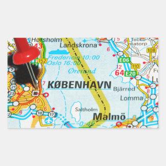 Copenhague, København au Danemark Sticker Rectangulaire