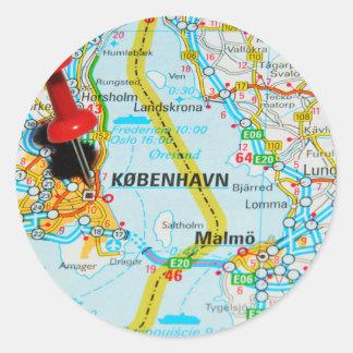 Copenhague, København au Danemark Sticker Rond