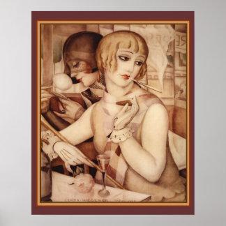 Copie 16 x 20 d'art déco de Gerda et de Lili #1