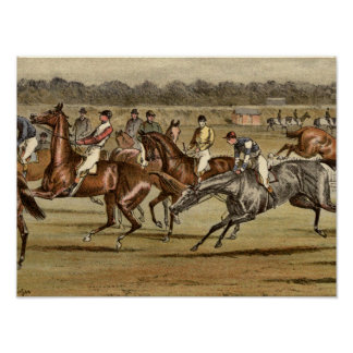 Copie 1886 de course de chevaux de course poster