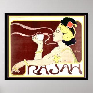 Copie 1897 de raja de Nouveau d'art par le meunier Poster