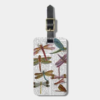 Copie 4 de libellule étiquette pour bagages