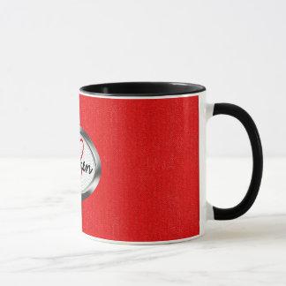 Copie à la mode de zèbre et monogramme rouge au tasses