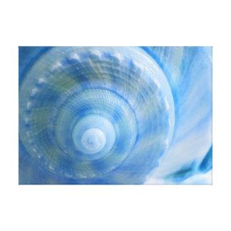 Copie abstraite bleue de toile d'art numérique de toiles