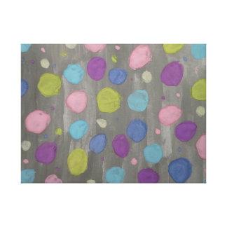 Copie abstraite d'art de toile de bulles en pastel