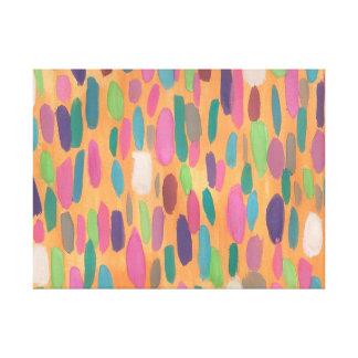 Copie abstraite d'art de toile de traçages oranges