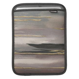 Copie abstraite dorée d'or du brouillard II de Housses iPad