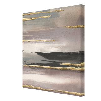 Copie abstraite dorée d'or du brouillard II de Toile