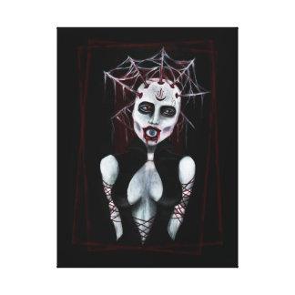 Copie acrylique de toile de haut de prêtresse oeil