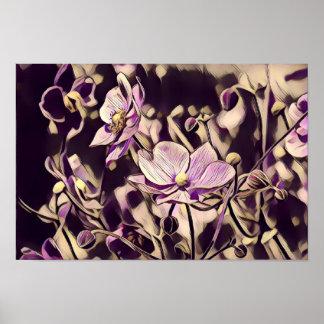 Copie/affiche pourpres de fleurs poster