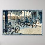 Copie allante à vélo vintage posters