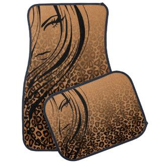 Copie animale | Brown de fille de Jaguar Tapis De Voiture