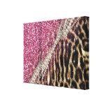 Copie animale de fourrure de faux de beau léopard toiles