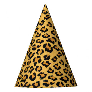 Copie animale de fourrure de léopard ou de safari chapeaux de fètes