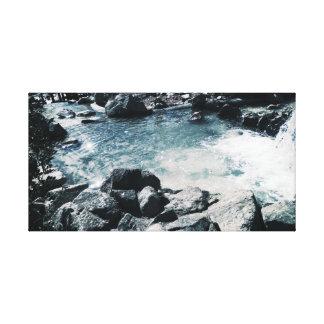 Copie apaisante bleue de toile de l'eau
