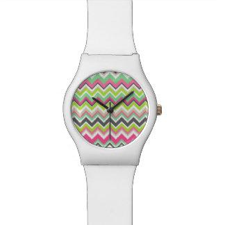 Copie aztèque tribale géométrique de zigzag de che montres bracelet