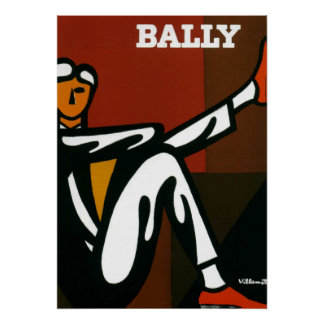 Copie Bally d'affiche de Villemot de chaussures d'