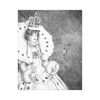 Copie blanche Alice de toile de la Reine dans