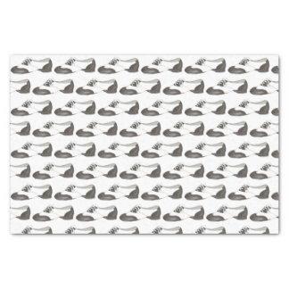 Copie blanche noire de professeur de danse de papier mousseline