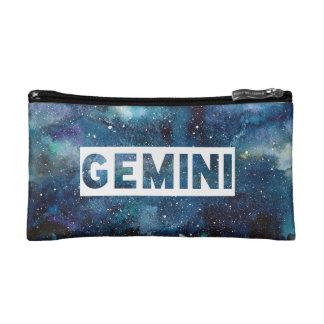 Copie bleue de galaxie de signe d'étoile de petite trousse de maquillage