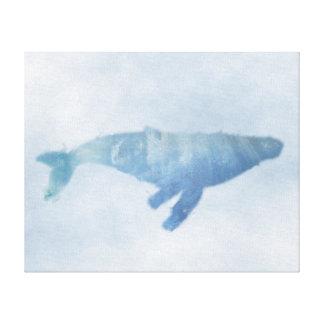 """Copie bleue de toile de baleine de bosse (20"""""""