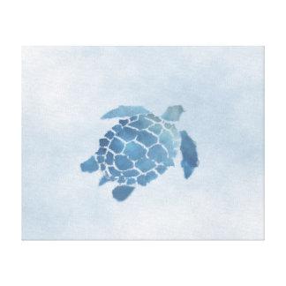 "Copie bleue de toile de tortue (20"" x16"")"