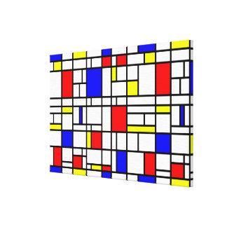 Copie bleue jaune rouge de toile de grille d'art