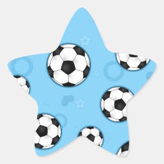 Copie bleue mignonne d'étoile du football stickers en étoile