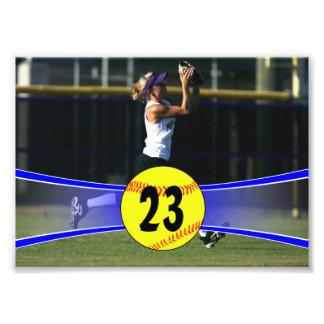 Copie bleue personnalisable de photo du base-ball