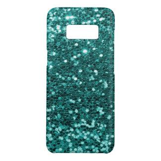 Copie bleue turquoise fascinante de scintillement coque Case-Mate samsung galaxy s8