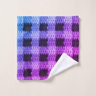 Copie bleue violette de crochet de carrés de plaid