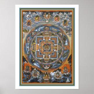 Copie bouddhiste 12 x 16 de mandala poster