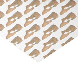 Copie bronzage lyrique de chaussure de professeur papier mousseline