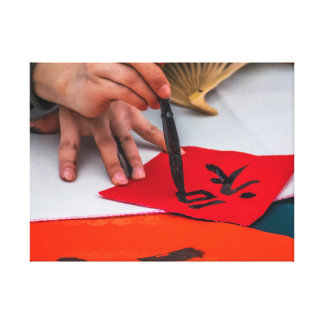 Copie chinoise de toile de calligraphie