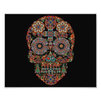Copie colorée de photo de crâne de sucre
