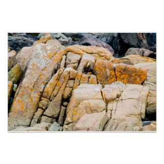 Copie colorée de roches d'océan affiches