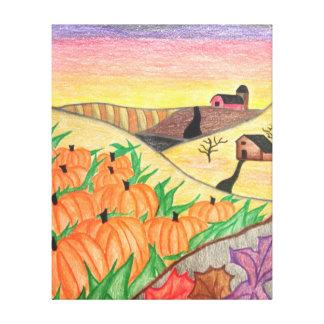 Copie colorée de toile d'art populaire de récolte