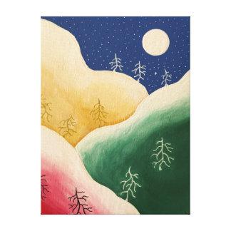 Copie colorée de toile de flocon de neige de Noël