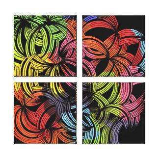 copie colorée de toile - rétro toiles tendues sur châssis