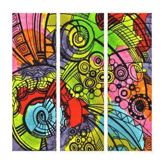 copie colorée de toile - rétro impression sur toile