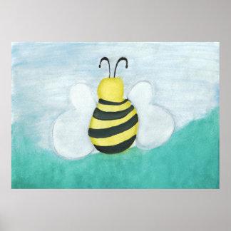 Copie d abeille d aquarelle posters