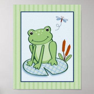 Copie d art de mur de crèche de tortue de grenouil posters
