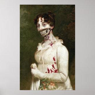 Copie d art de toile de zombi de couverture de PPZ Posters