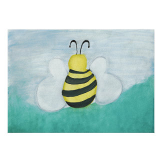 Copie d'abeille d'aquarelle posters