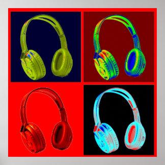 Copie d'affiche d'art de bruit de couleurs de posters