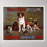 Copie d'affiche de chien :  Club 1890 de chenil de