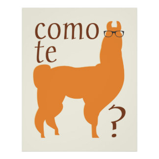 Copie d'affiche de citation de lama : Lamas de te  Posters