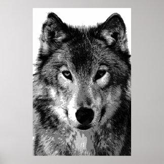 Copie d'affiche de loup gris poster