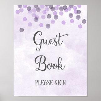 Copie d'affiche de mariage de livre d'invité posters